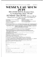 Wessex Car show 2018 entry form