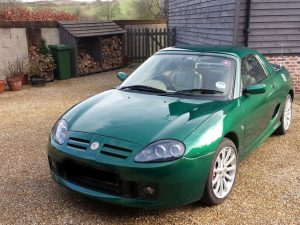 2002 MG TF Le Mans Green